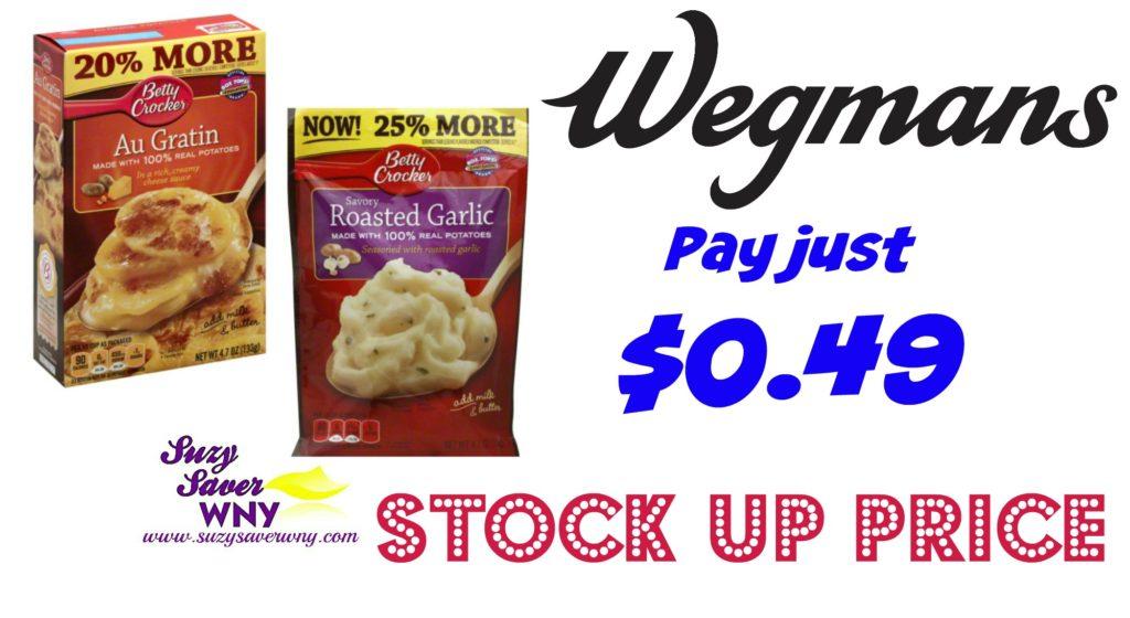 photo relating to Wegmans Printable Coupon called Wegmans: $0.49 Betty Crocker Potatoes -