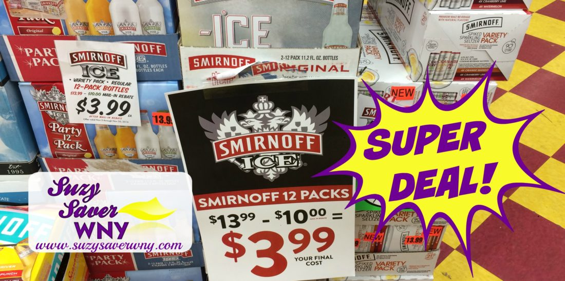 HOT DEAL* $3 99 Smirnoff Ice or Spiked Seltzer 12 pack -