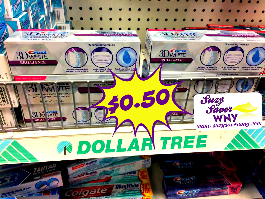 photo regarding Dollar Tree Application Printable known as Greenback Tree: $0.50 Crest 3D White Toothpaste (Total Measurement) -