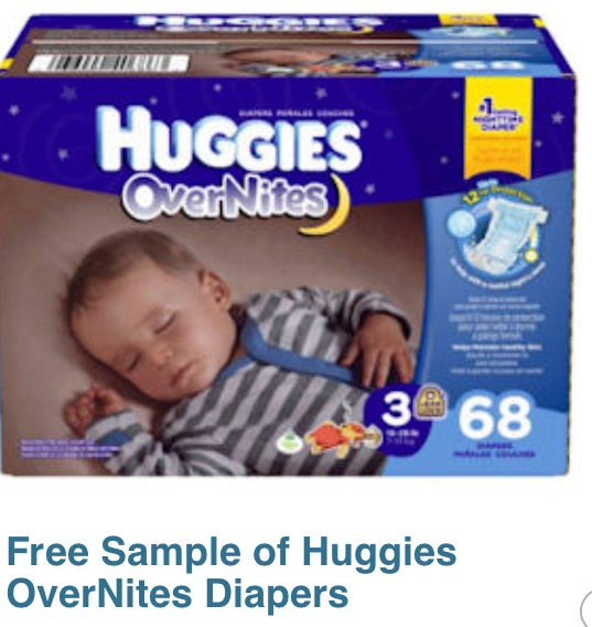 FREE Sample: Huggies Overnight Diapers -