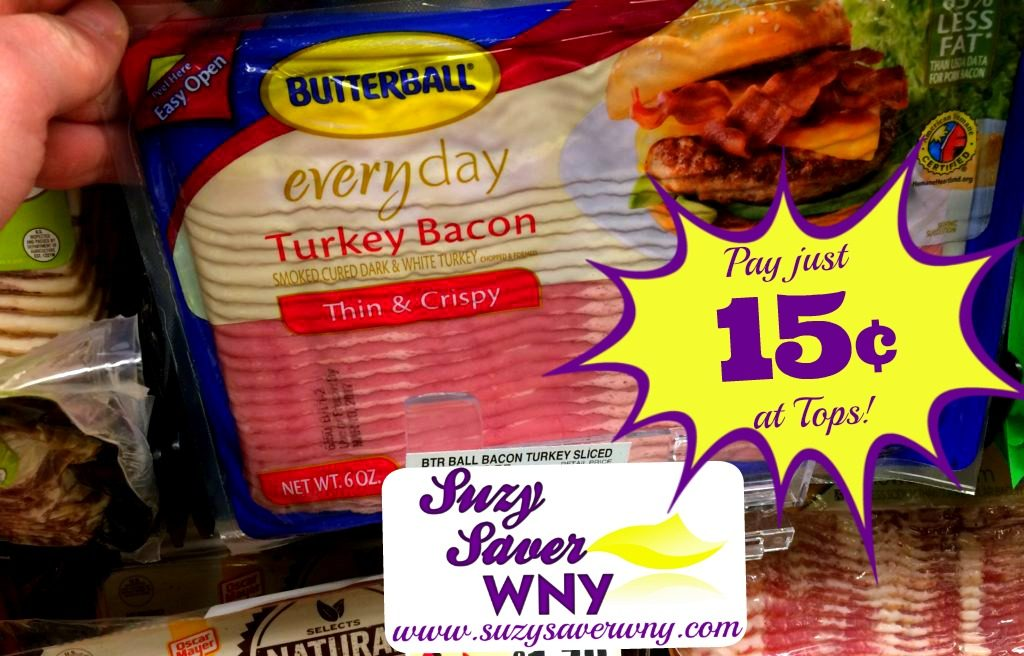 graphic relating to Butterball Coupons Turkey Printable known as Tops Marketplaces: *Warm Offer* $0.15 Butterball Turkey Bacon -