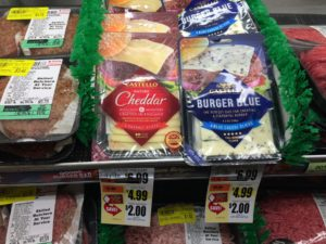 Castello Burger Cheese Slices Tops Markets