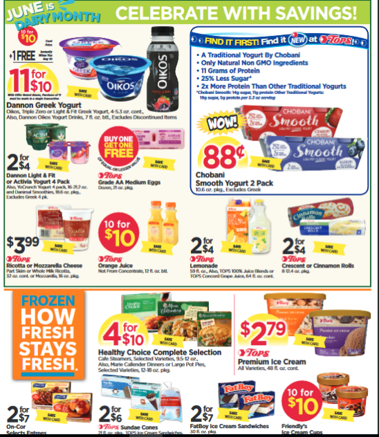Tops Markets Ad Scan & Deals: June 11 - 17, 2017 -