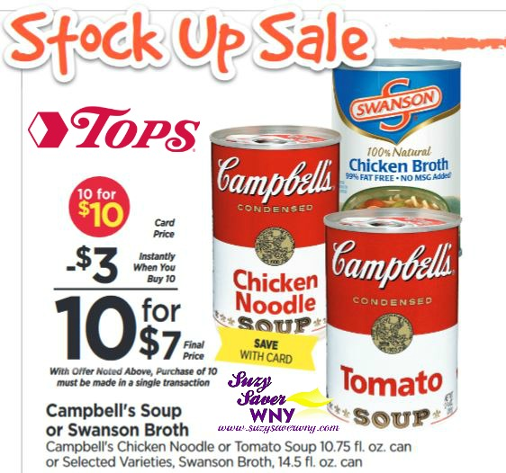 graphic about Campbell Soup Printable Coupon named Campbells Soup Inventory up Sale Tops Marketplaces printable coupon