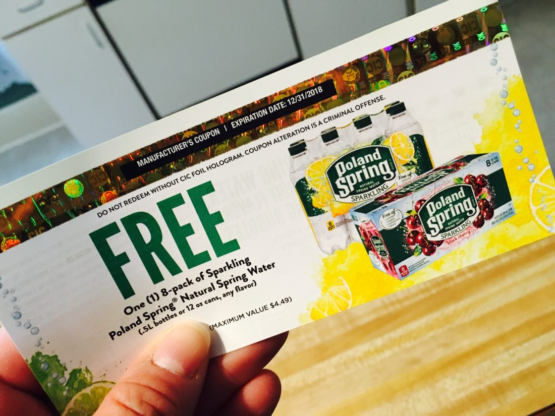 Manufacturer Coupons Mail >> Poland Spring Free Sparkling Spring Water Coupon By Mail