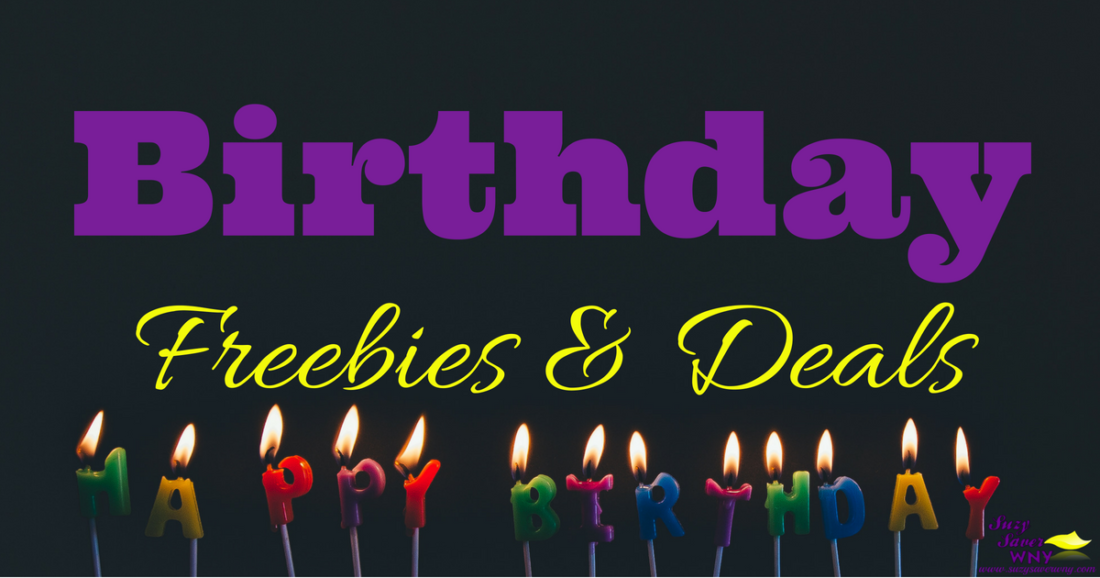 Birthday Freebies Coupons