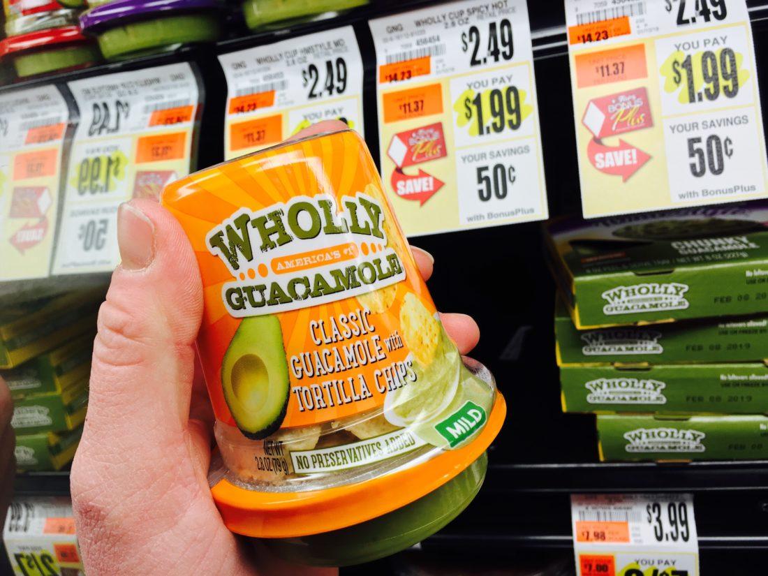 wholly guacamole snack cup tops markets suzy saver wny