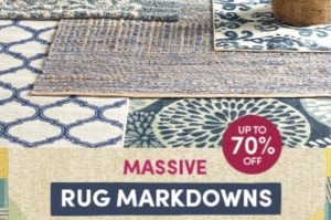 Massive Rug Markdowns up to 70% OFF