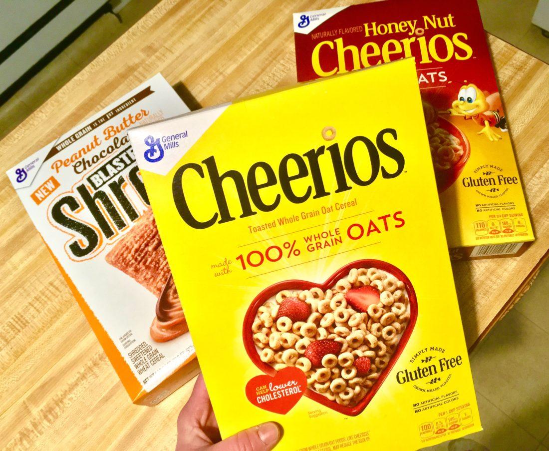 General Mills Cereal Cheerios, Honey Nut Cheerios, Blasted Shreds Suzy Saver WNY