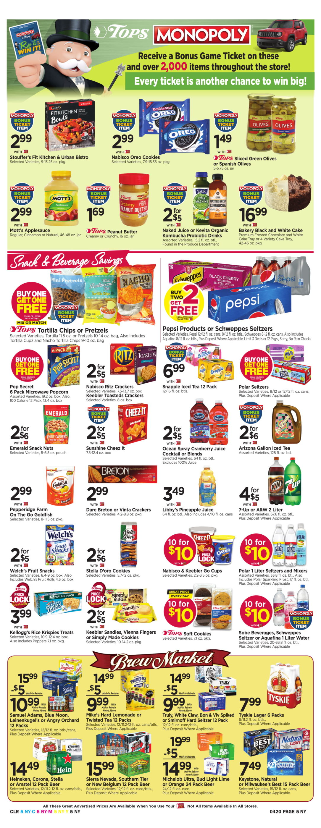 photograph about Cheez It Coupon Printable known as Tops Marketplaces Bargains: April 14 - 20, 2019 -