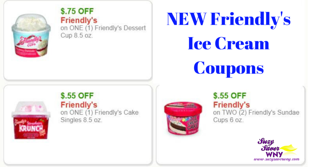 Friendly's Ice Cream Printable Coupons