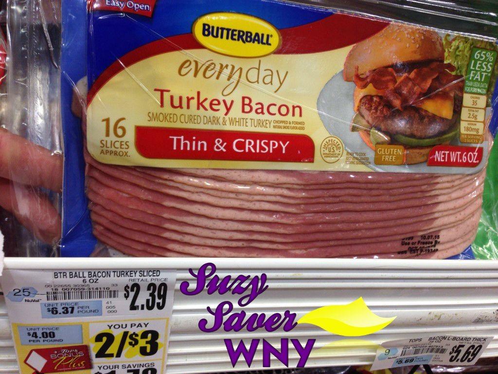 Butterball Turkey Bacon Tops Markets Sale 8.20.15
