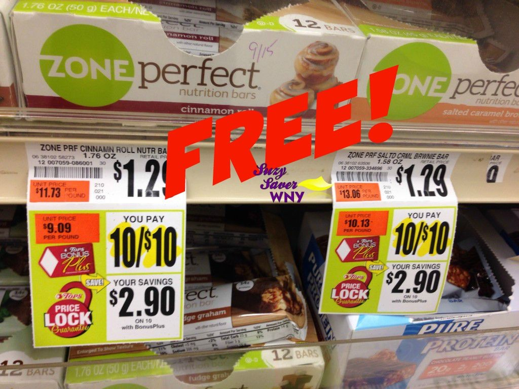 Zone Perfect Bars Tops Markets Sale Price Lock FREE