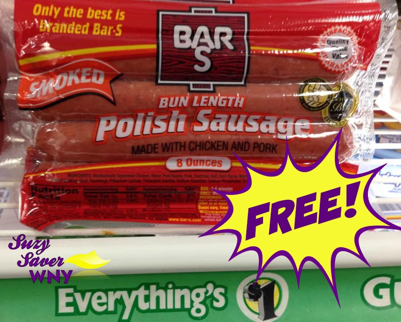 Bar-S Polish Sausage Dollar Tree FREE Suzy Saver WNY