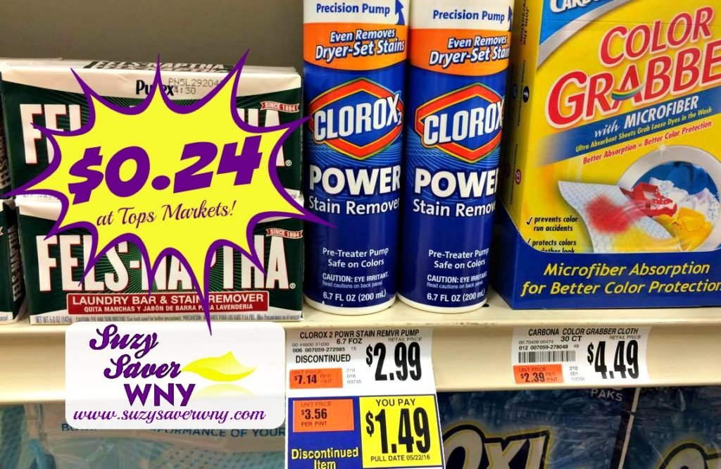 Clorox 2 Laundry Pump Tops Markets Clearance Deal $0.24 Suzy Saver WNY
