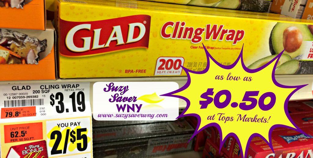 Glad ClingWrap Tops Markets Sale Deal Suzy Saver WNY