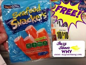 Seafood Snackers Tops Markets sale FREE