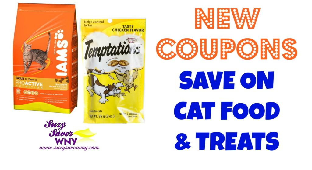 Iams Cat Food Temptations Cat Treats Printable Coupons July 18, 2016 - 7.18.16 Suzy Saver WNY