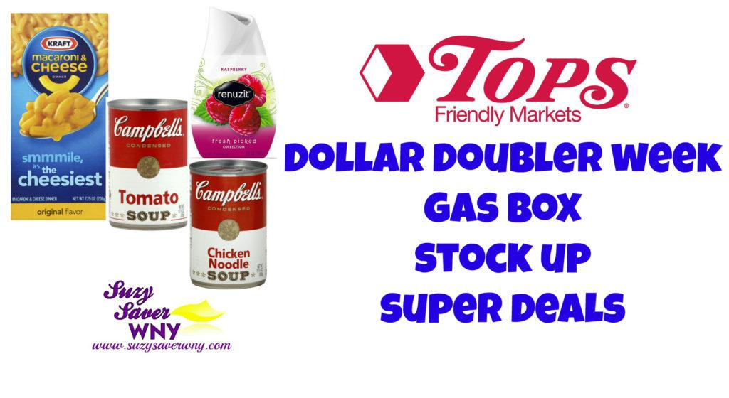 Tops Markets Dollar Doubler Week STOCK UP SUPER DEALS 8.7.16 August 2016 Suzy Saver WNY