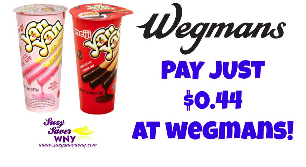 Yan Yan Meiji Snacks Wegmans Deal Suzy Saver WNY