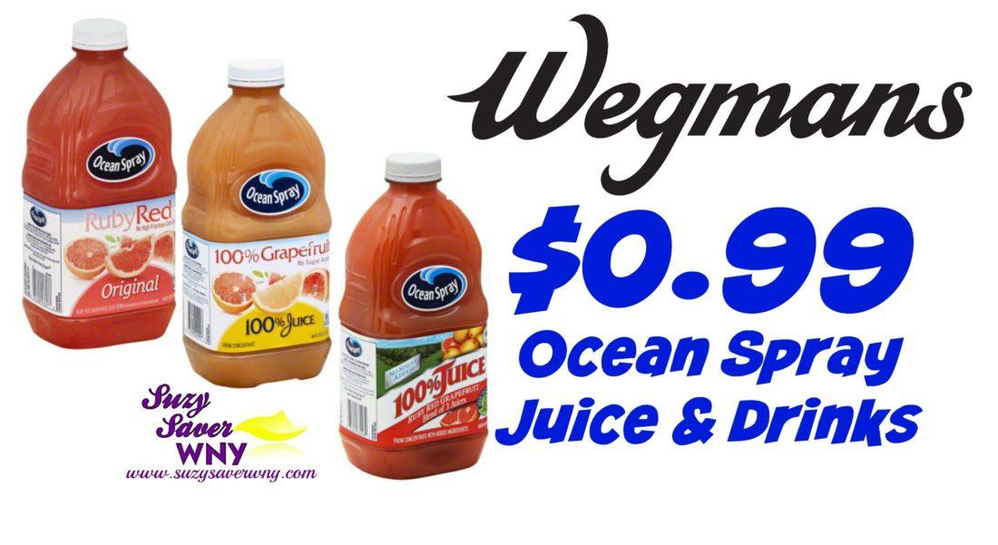 Wegmans Hot Deal 0 99 Ocean Spray Juice