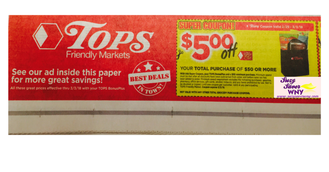 Tops Markets Save 5 Off 50 Purchase Super Coupon