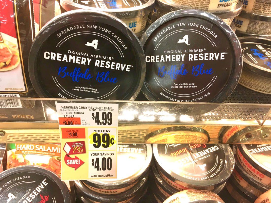 Creamery Reserve Buffalo Blue Cheese Spread Tops Markets Deal Suzy Saver WNYCreamery Reserve Buffalo Blue Cheese Spread Tops Markets Deal Suzy Saver WNY