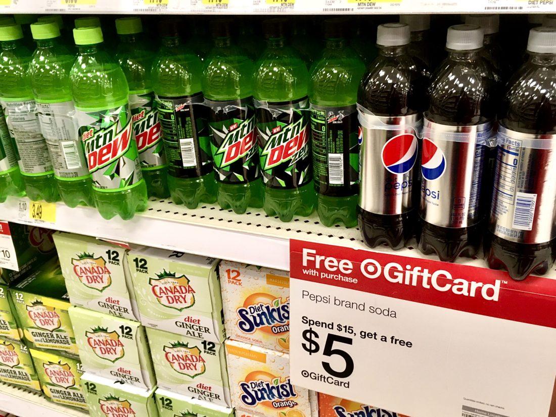 Pepsi 6 pack bottles Target Gift Card Offer