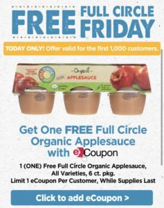 FREEBIE Full Circle Friday Organic Applesauce