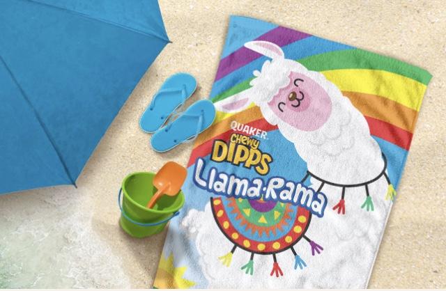 Quaker Chewy Bars FREE Llama Rama Beach Towel Offer